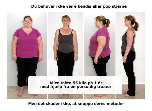 vægttab med personlig træner hjælp